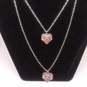 New Big sis & Lil sis heart necklace